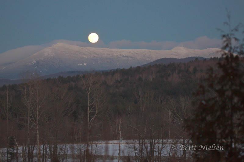 Full Moon Over Mt Mansfield ©Britt Nielsen