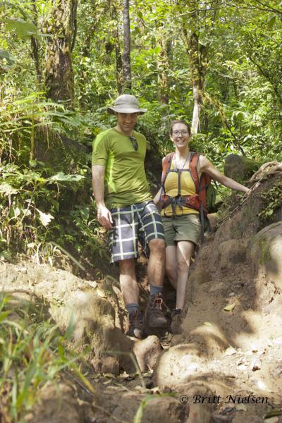 Happy Honeymoon Hikers David and Maria
